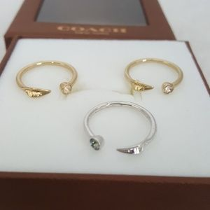 New Coach Two Tone Ring Set (3)